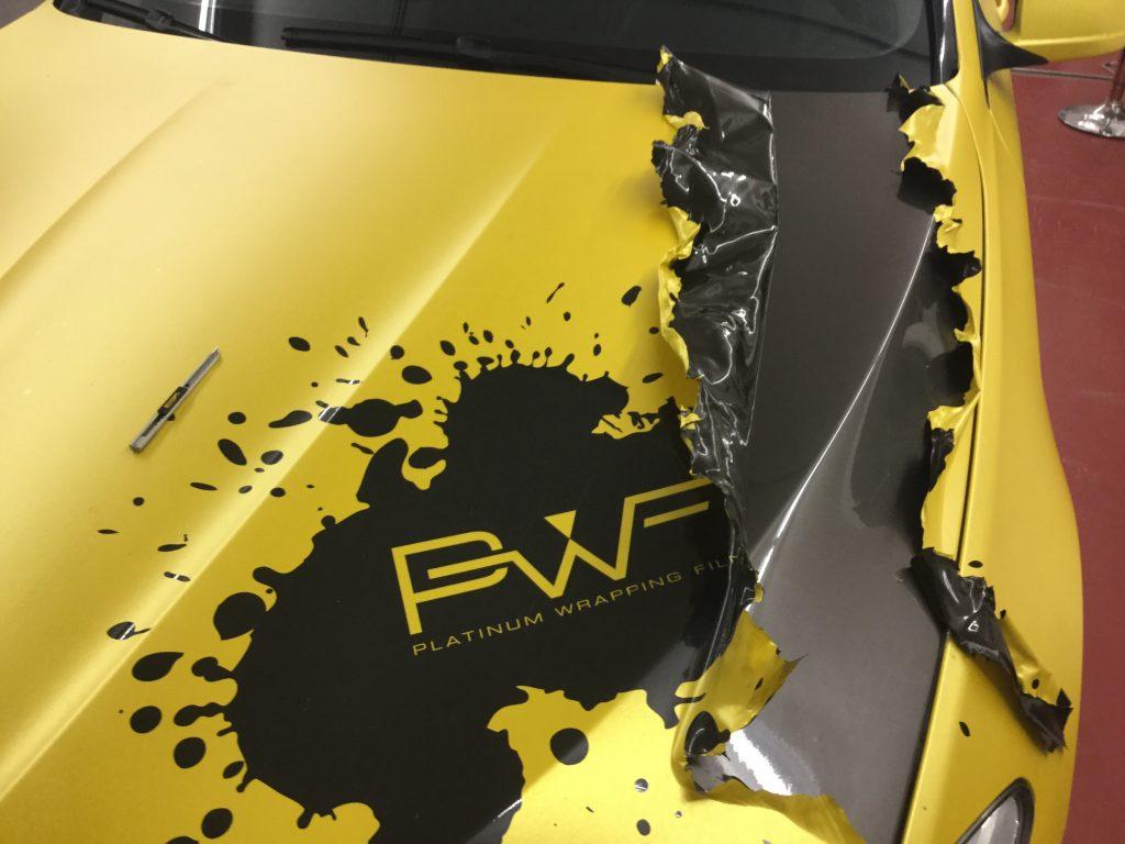 Demontáž Wrapovej fólie PWF od Bruxsafolu